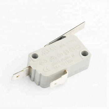 KW15 factory price free sample spst 2 pin 16a 125/250v micro switch