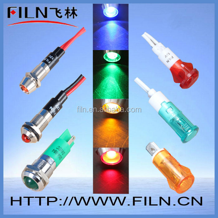 12mm 220v green atv signal lights copper material with wire LED 500000h