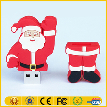 New Comming PVC Custom 64GB Father Christmas USB,Santa Claus USB 2.0 for Christmas Gift,2016 Christmas Santa Claus USB