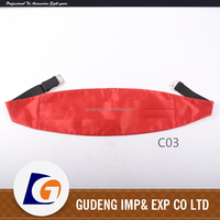 Solid Cummerbund Elastic Belt With Snaps