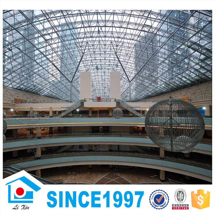 Wide Span High Strength Prefabricated Steel Structure Shopping Mall