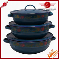 Professional production porcelain enamel cookware sets made in china