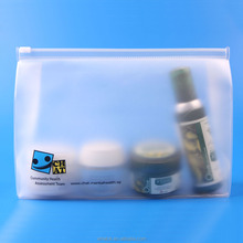 wholesale frosted plastic zipper EVA cosmetics bag with ziplock