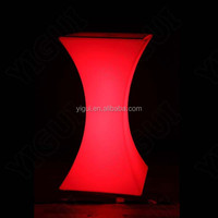 Cheaper top quality led chair furniture/ led cube chair colour changing/Colorful LED Bar Tables