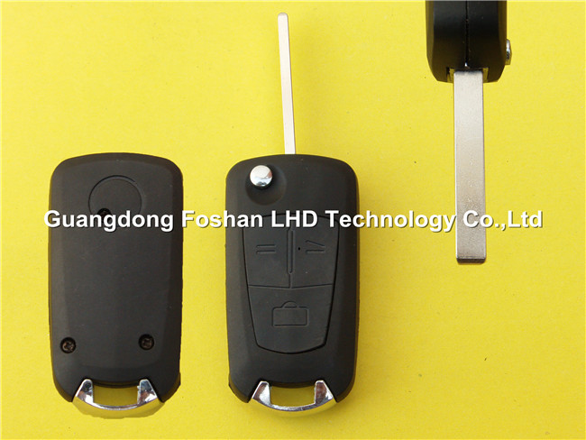 Car key Modified Flip Remote Opel 3 buttons replaceable key blank with HU100 blade key blank cover