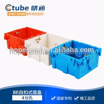 China supplier 86 type switch box,electrical pvc junction boxes