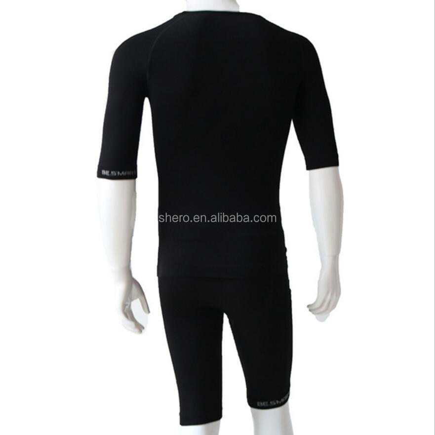 EMS seamless breathable anti-micro quick dry Lyocell Polyamied Elastan training suit jogging suit for sport