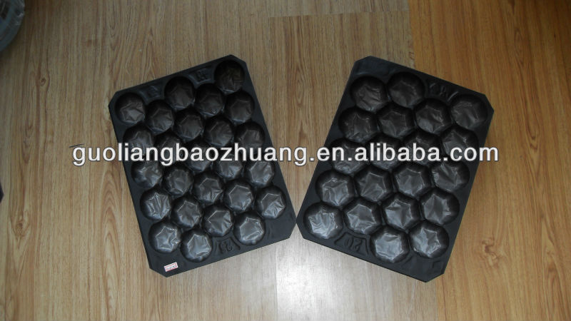 29*39cm Disposable Black Christmas Fruit Tray