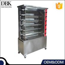 Stianless steel chicken grill roaster duck gas rotisserie oven for baking machine