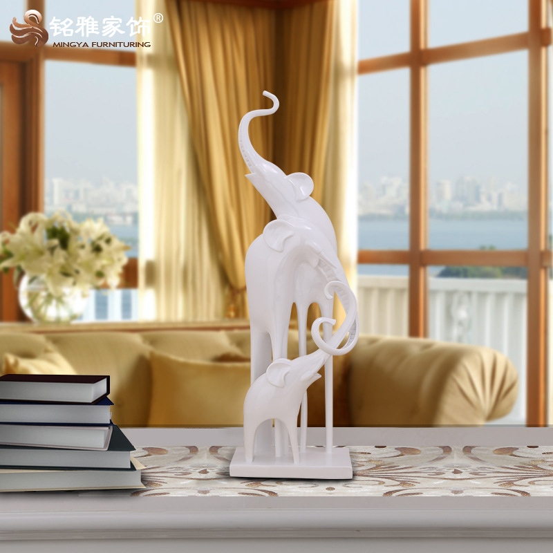 High grade home decor craft custom made resin animal elephant sculpture for hotel