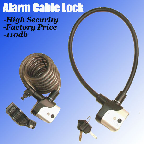 2013 Smart Design Cable Alarm Lock For Bicycle