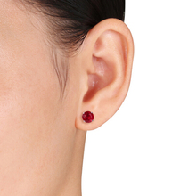Wedding Jewelry rhodium plated earring ruby stone red cz earring