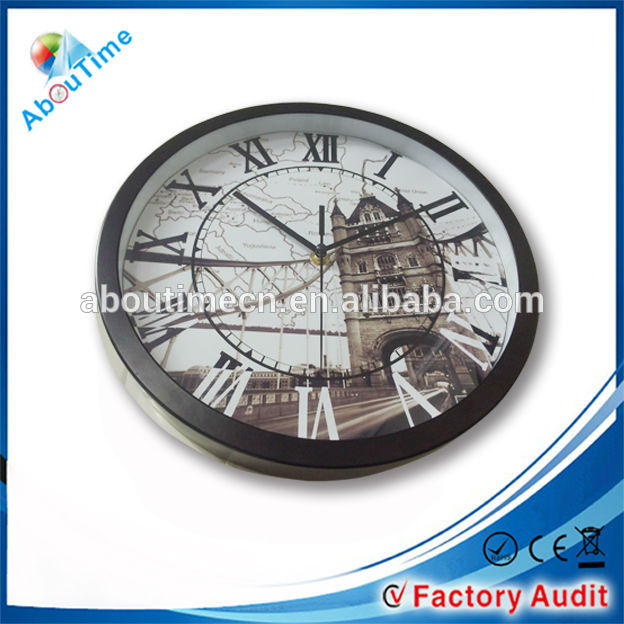 metal quartz wall clock/fluorescent light wall clock/azan wall clock