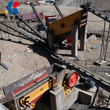 High quality mini stone crusher plant for crushing granite , basalt, pebble