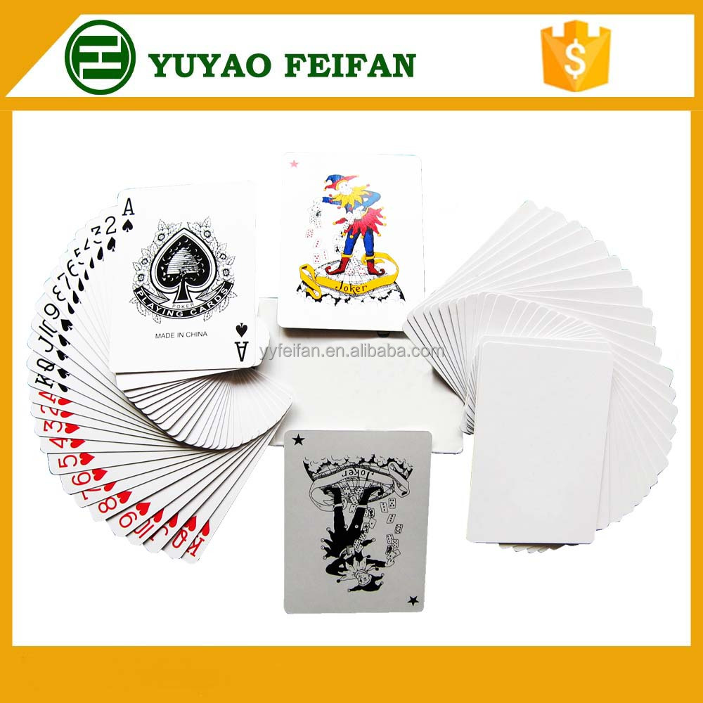 poker game playing card normal type paper cards oem packing