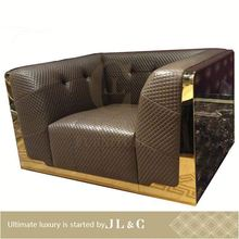Laste designed Neoclassical american style guangzhou furniture leather living room sofas-JS78-01 single sofa- JL&C Furniture