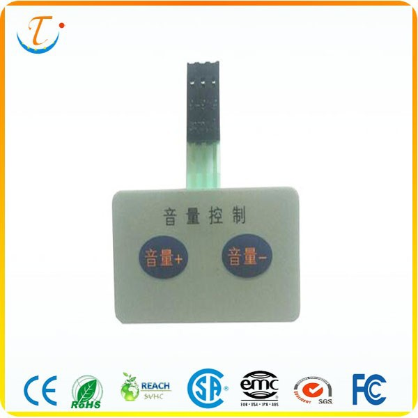 Two Keys Silver Pasted Membrane Switch Manufacturer