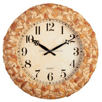 Large Garden Decorations Rattan Design Polyresin Digital Clock