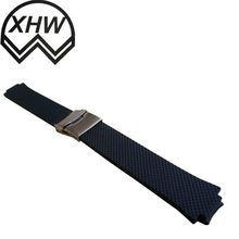 Stainless silicoen rubber watch straps number SW-17-003 watch straps' size 81mm*17mm*4.0mm and 120mm*17mm*4.0mm