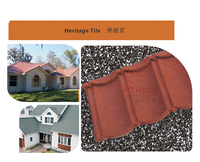 Acoustic insulation colorful Stone chip coated metal roof tile