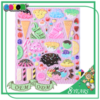 Best-Selling Superior Quality Low Price Beautiful Decorative Good Adhesive Girls Dress Up Puffy Stickers