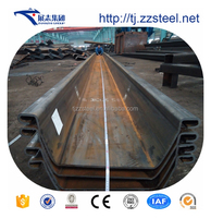 Cold formed steel sheet pile wall size