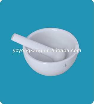 100mm Laboratory porcelain mortar with pestle