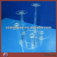 Modern crystal 5 tiers round acrylic single cupcake stand