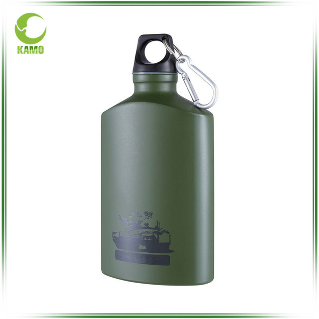 Army Green 99.6% Pure Aluminum Sport Water Bottle