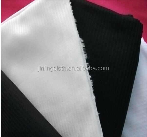 Semi-Bleached /White/Black Herringbone Polyester Cotton Fabric Supplier