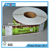 Food packaging label printing,groundnuts label decal