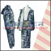 170T / 190T / 210T polyester black rubber rain suit for adult