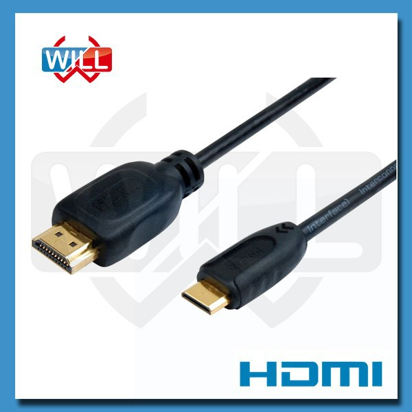 ROHS certified custom micro type c cables hdmi with 4K 3D