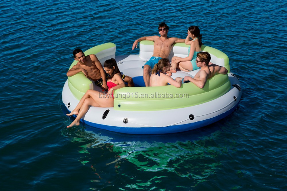 2016 Canopy Island Type Giant Inflatable 7 Person Pool/River/lLake floating Raft Lounge