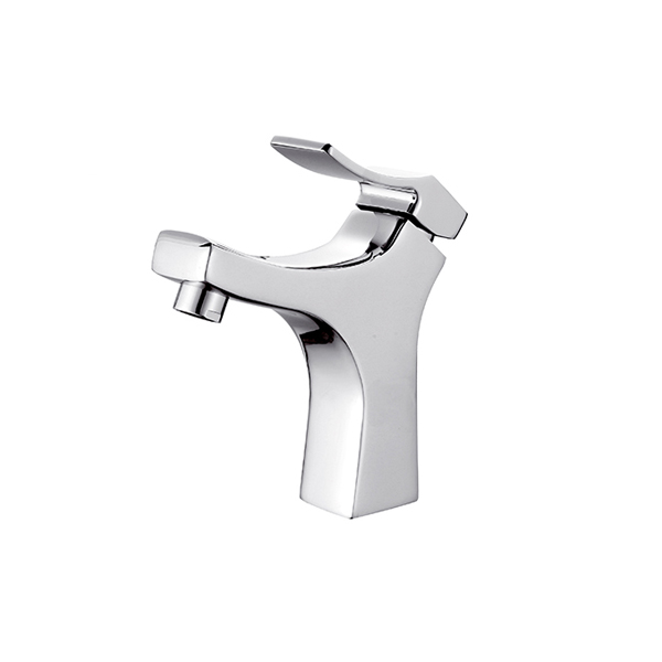 High quality brass brushed nickel bathroom basin faucet