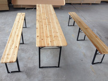 Foldable fir beer festival table and bench set