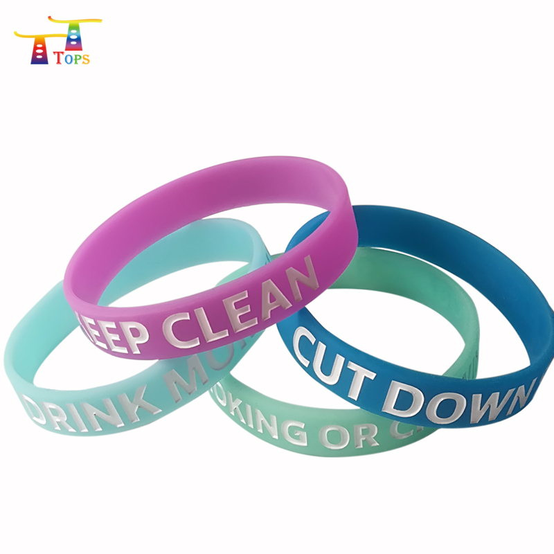 wholesale silicon no minimum custom printed wrist band rubber band