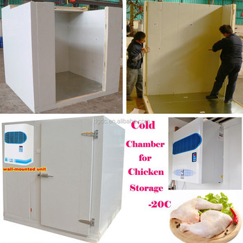 chicken cold chamber with wall mounted unit