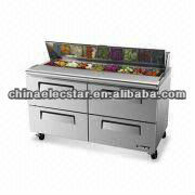 Cold Air Salad Case with 4 Drawers, UL and CE Certifications