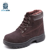 2018 tall warm brand safety boots security shoes black security guard boots construction safety shoes boot