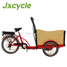 Family electric tricycle cargo reverse trike for sale
