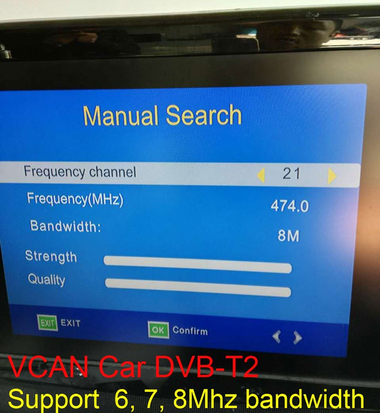 Car DVB-T2 TV Receiver 4 Tuner 4 Antenna USB HDTV Russia High Speed DVB-T24