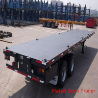 40ft Flatbed Semi-Trailer with Three Axles