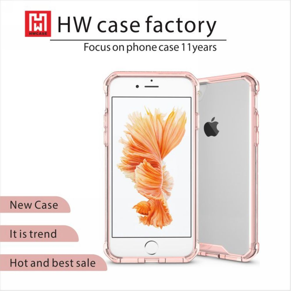 Soft Transparent Ultra Thin 4.7 inch Smart Phone Bumper Case For iPhone 7
