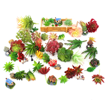 Factory Wholesale DIY Green Fake Succulent Artificial Plants For Home Decoration Photography Props Amazon FBA Hot Sale Product
