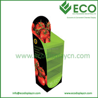 4 Tiers Floor Display Stand for Fresh Fruits and Vegetable Display in Supermarket
