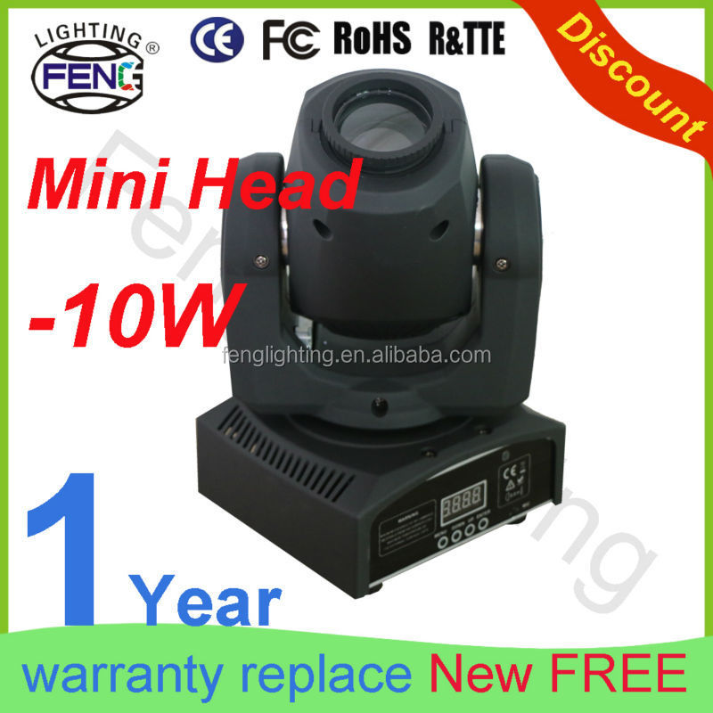 Wholesale Christmas Rotating Lights 10W LED Mini Gobo Logo Projector Pro Light Sound Systems Equipment