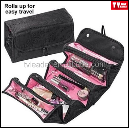 AS SEEN ON TV Cosmetic bag Rolls up for easy travel, holds everything in separate compartments
