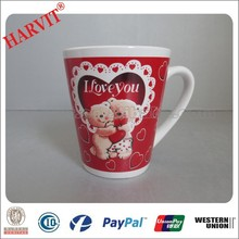 Hot New Products for 2015 Birthday Gift for Lover /Teddy Bear Valentines Day Gifts V Shape Ceramic Mug