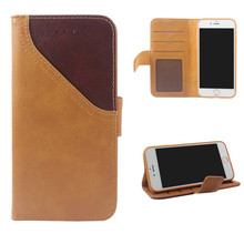 simple style magnetic pu leather folio wallet flip cover case for iphone 5 6 7 8 plus x